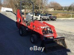2007 Massey Ferguson GC2310 4x4 Compact Tractor Loader Backhoe