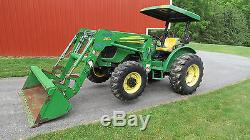 2008 JOHN DEERE 5425 4X4 UTILITY TRACTOR With LOADER POWER REVERSER 1800 HOURS