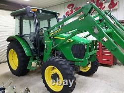2008 John Deere 5083e tractor 83 HP No emissions No DPF No Def 4wd loader