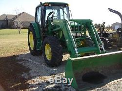 2008 John Deere 6330 MFWD with 643 Loader LOW HOURS