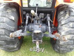 2008 Kioti Dk55 Cab Tractor. Quicke Loader. Compact. Diesel. 4x4. Runs Great