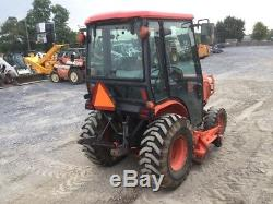 2008 Kubota B3030 4x4 Compact Tractor with 60 Belly Mower & Cab