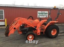 2008 Kubota L3400 4x4 Compact Tractor with Loader NEEDS WORK READ DESCRIPTION