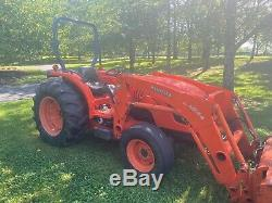 2008 Kubota MX 5100 only 800 hours includes front bucket and backhoe attachment