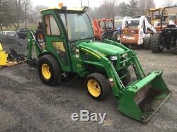 2009 John Deere 2320 4x4 Compact Tractor Loader Backhoe with Cab & Snowblower