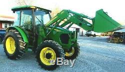 2009 John Deere 5083E Tractor Cab, 4x4 Loader-Delivery @ $2.00 per loaded mile