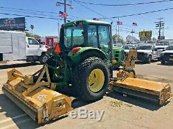 2009 John Deere 6330 Tractor Tiger Flail Mower Enclosed Cab Super Clean 3k Hours