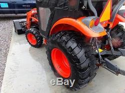 2009 KIOTI CK27 TRACTOR With KL120 LOADER & SIMS CAB. 4X4. INDUSTRIAL TIRES