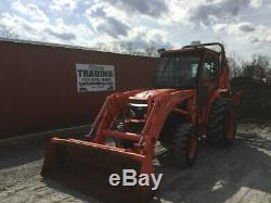 2009 Kubota L3240 4x4 Hydro Compact Tractor Loader Backhoe with Cab Only 1100 Hrs