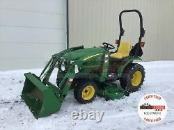 2010 JOHN DEERE 2320 TRACTOR With LOADER, 344 HRS, 3 PT, 540 PTO, 4X4, 24.1 HP