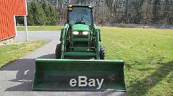 2010 JOHN DEERE 4320 4X4 COMPACT UTILITY CAB TRACTOR With LOADER HYDRO 1050 HRS