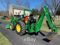 2010 John Deere 4005 Tractor 300cx Loader 8B Backhoe 140 Hours