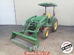 2010 John Deere 4120 Loader Tractor Canopy 4x4 3 Point 540 Pto 1040 Hours 43 HP
