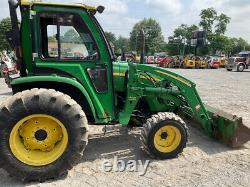 2010 John Deere 4520 4x4 50Hp Compact Tractor with Cab & Loader Clean Only 2400Hrs