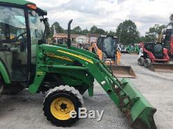 2010 John Deere 4720 4x4 Hydro Diesel Compact Tractor with Cab Loader 72 Mower