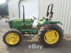 2010 John Deere 5045e Farm Tractor 2 Post Rops 4x4 3 Point 540 Pto 146 Hrs 45 HP