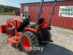 2010 Kubota B2920 4x4 30Hp Hydro Compact Tractor with Loader Belly Mower 321Hrs
