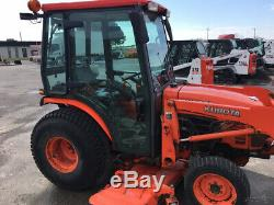 2010 Kubota B3030 4x4 Hydro Compact Tractor with Cab Loader 60 Mower 1200Hrs