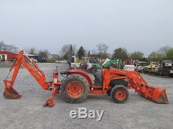 2010 Kubota L4240 4x4 Compact Tractor Loader Backhoe