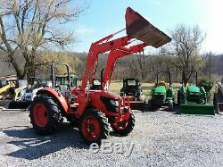 2010 Kubota M6040 4x4 Tractor With Loader, 65 HP