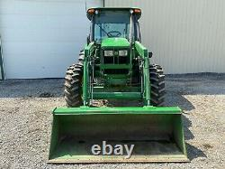2011 JOHN DEERE 5101E TRACTOR With LOADER, CAB, 4X4, HEAT AC, 101 HP PRE-EMISSIONS