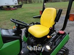 2011 John Deere 1026R Sub Compact Tractor Loader Belly Mower 4X4 24HP H120 Nice