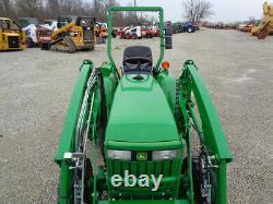 2011 John Deere 3005 Tractor, 4WD, JD 300 FL with JD QA, Gear Drive, R4, 44 Hours