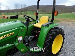 2011 John Deere 3038E Compact Tractor Loader 4X4 37HP Turbo Diesel Hydrostatic