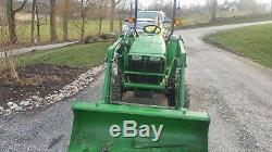 2011 John Deere 3038E Tractor Loader, 4WD 38 HP 4x4 diesel with 368 hours