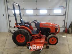 2011 Kubota B3200 Tractor, 4WD, Hydro, 72 Belly Mower, 32HP Diesel, 1,901 Hours