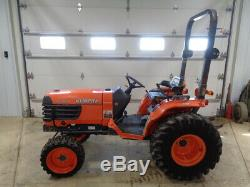 2011 Kubota B7800 Tractor, 4WD, Hydro, 30HP, R4 Tires, 382 Hours