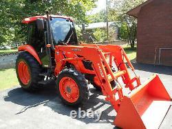 2011 Kubota M7040 4X4 Tractor Grand Ultra Cab + LA1153 Loader