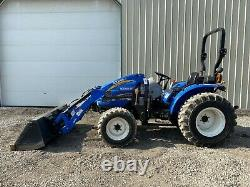 2011 NEW HOLLAND BOOMER 50 TRACTOR With LOADER, 2 POST ROPS, 4X4, 540 PTO, 573 HRS