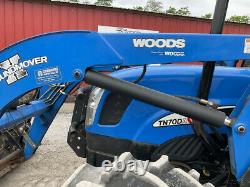 2011 New Holland TN70DA 4x4 70Hp Utility Tractor with Cab & Loader Clean 300Hrs