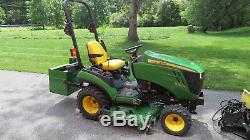 2012 JOHN DEERE 1026R 4X4 COMPACT TRACTOR With BELLY MOWER & FRONT BLADE HYDRO