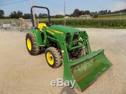 2012 JOHN DEERE 3032E TRACTOR With 305 LOADER, 4X4, 686 HOURS, HYDRO, 31 HP DIESEL