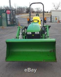 2012 John Deere 1025R Compact Tractor WithLoader, Mower, & Backhoe