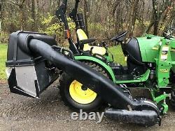 2012 John Deere 2520 Diesel Tractor Loader Mower Plow Bagger Lots of Extras