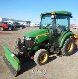 2012 John Deere 3520 4x4 Hydro Compact Tractor with Cab Front Snow Blade 1000Hrs