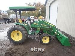 2012 John Deere 4105 Loader Tractor Canopy 4x4 3 Point 540 Pto 955 Hours 41 HP
