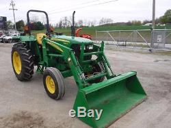 2012 John Deere 5045D Tractor WithJD 512 Loader, 380 Hrs! , 45 HP Diesel Engine