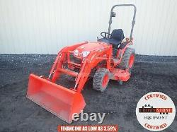 2012 Kubota B2920 Compact Tractor With Loader And Belly Mower 4x4 3 Pnt 1118 Hrs