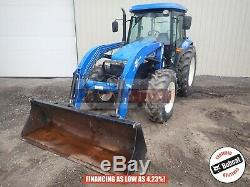 2012 New Holland Td5050 Loader Tractor Cab Heat/ac 4x4 3 Point 2598 Hours 95 HP