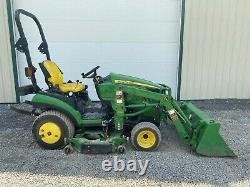 2013 JOHN DEERE 1026R TRACTOR With LOADER & MOWER, 2 POST ROPS, HYDRO, 568 HOURS