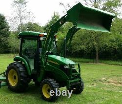 2013 JOHN DEERE 4720 Cab Tractor and Loader E-Hydro 4x4 66HP Turbo 593 hrs