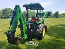 2013 John Deere 4120 Tractor with 400X Loader & 485 Backhoe