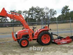2013 Kubota 3800 Diesel Tractor With 5ft Kodiak brushog 294 Hrs