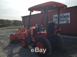 2013 Kubota B26 4x4 Diesel Hydro Compact Tractor with Loader Only 2200 Hours
