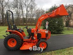 2013 Kubota B3200 Tractor, 32 HP, 4x4, Hydro, 90 Hrs, LA504 Loader 60 Mid Mower