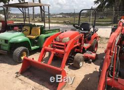 2013 Kubota BX2360 4x4 Diesel Compact Tractor with Loader & 60 Mower Only 400Hrs